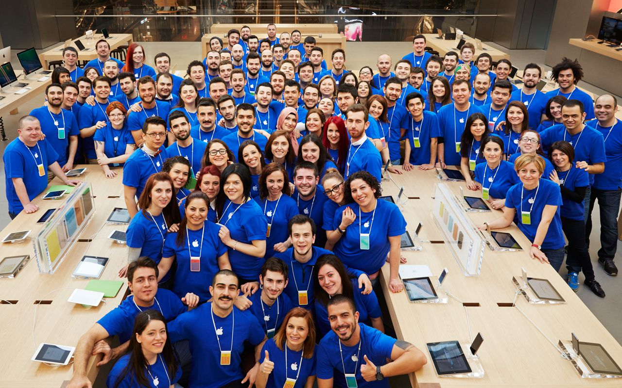Empregados da Apple Zorlu Center