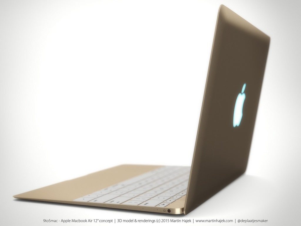 Mockup do suposto novo MacBook Air de 12 polegadas