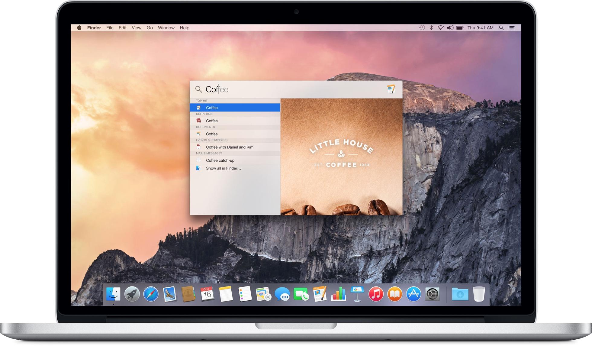 Spotlight no OS X Yosemite