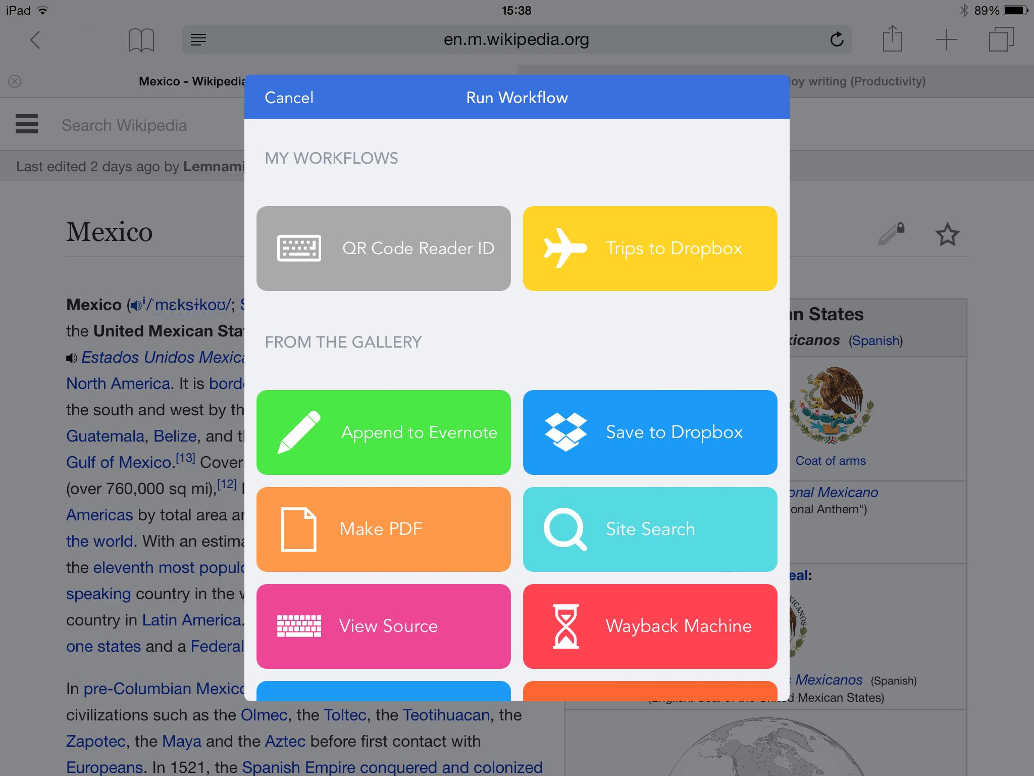 Workflow - Trips to Dropbox
