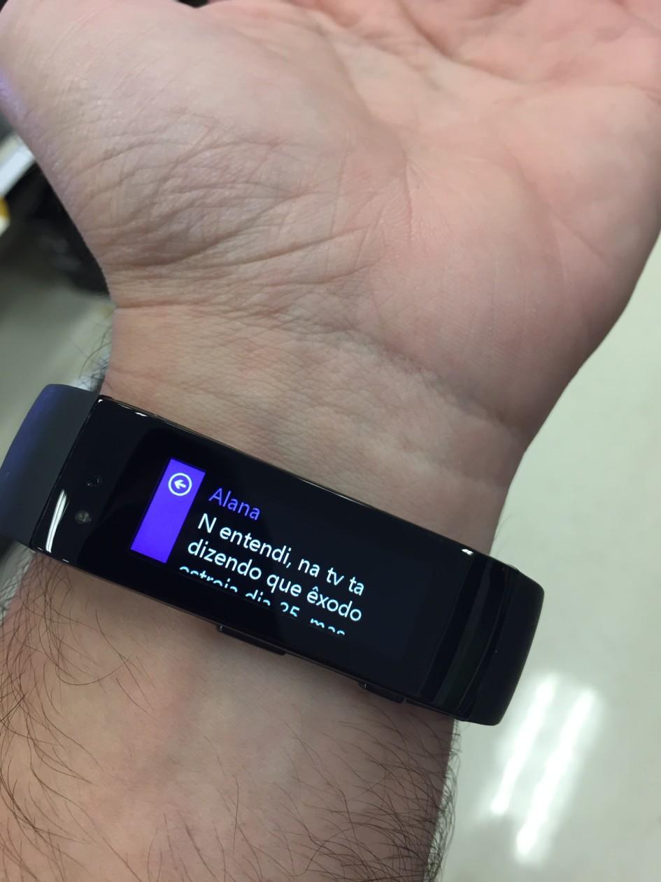 Microsoft Band - Mensagem
