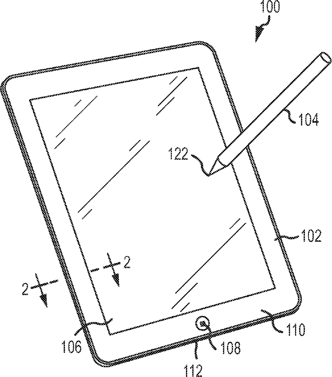 Patente da Apple cobrindo uma stylus