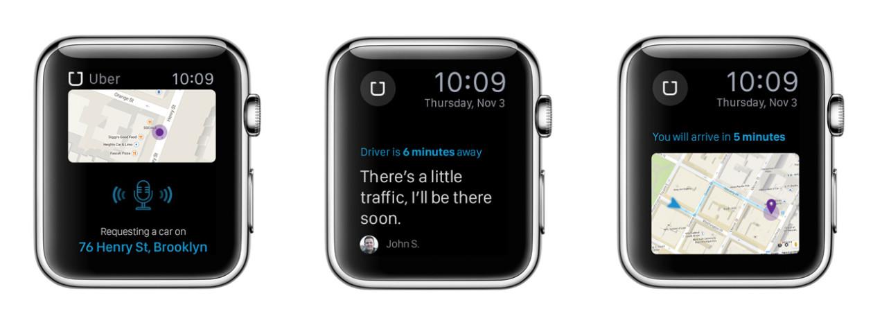 Conceito para o Apple Watch - Uber