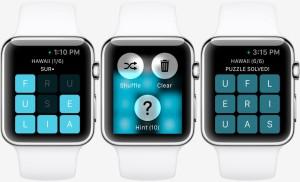 Mockup do jogo Letterpad para o Apple Watch