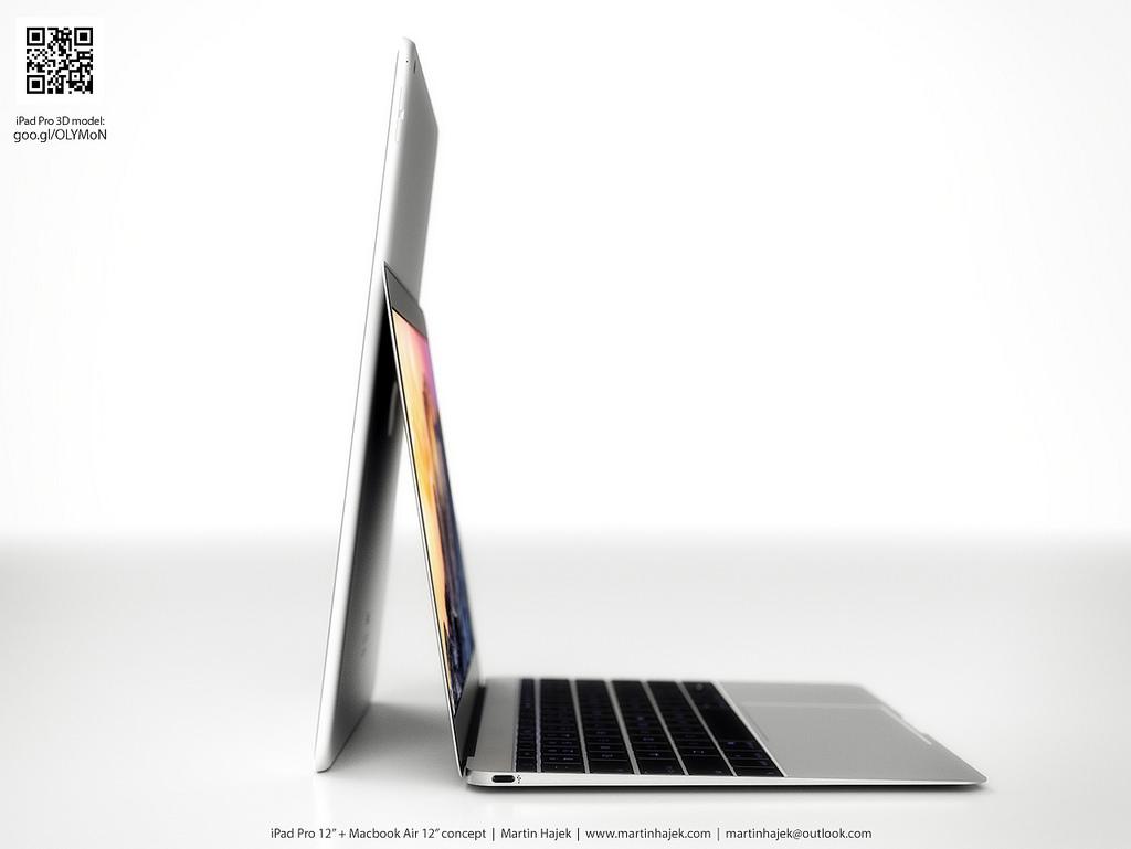 iPad Pro com MacBook Air