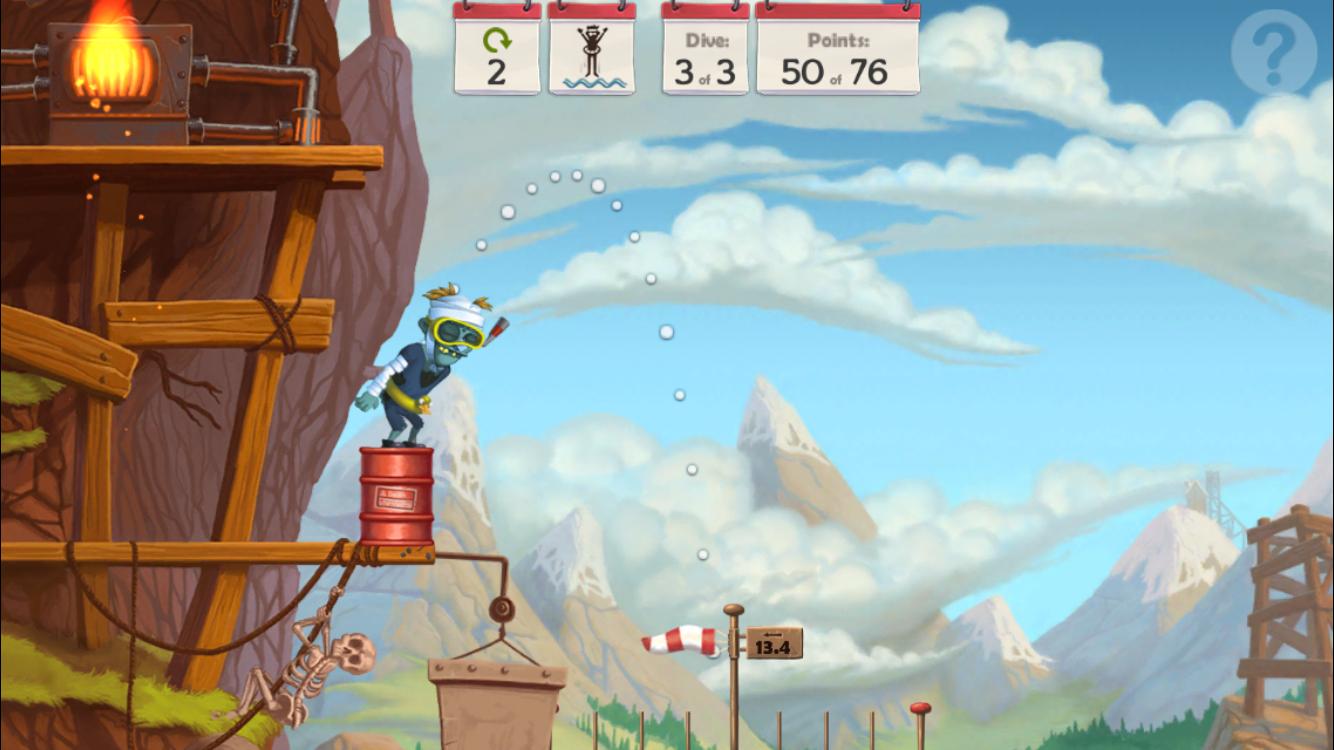 Zombie High Dive - Screenshot