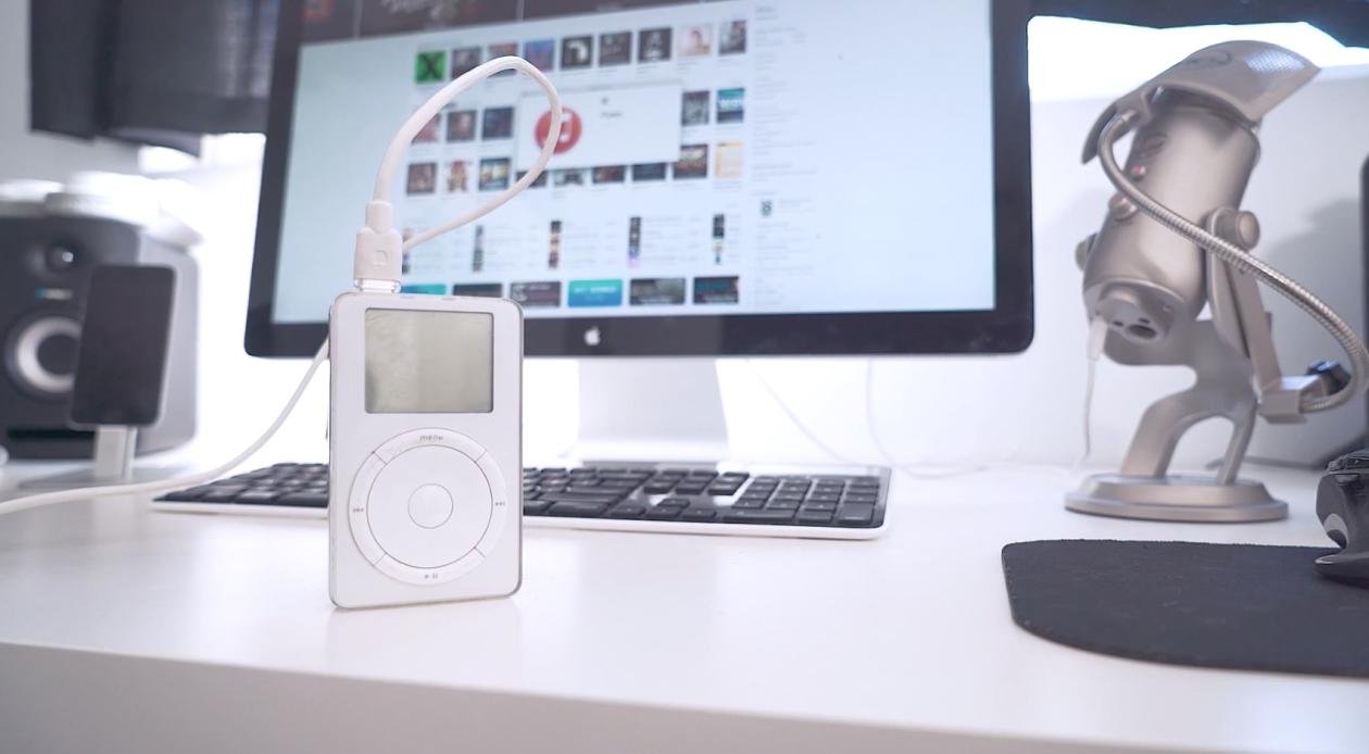 Primeiro iPod funcionando com o iTunes 12.1