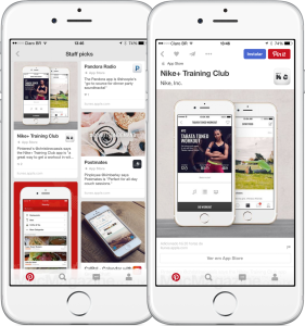 Instalando apps pelo Pinterest