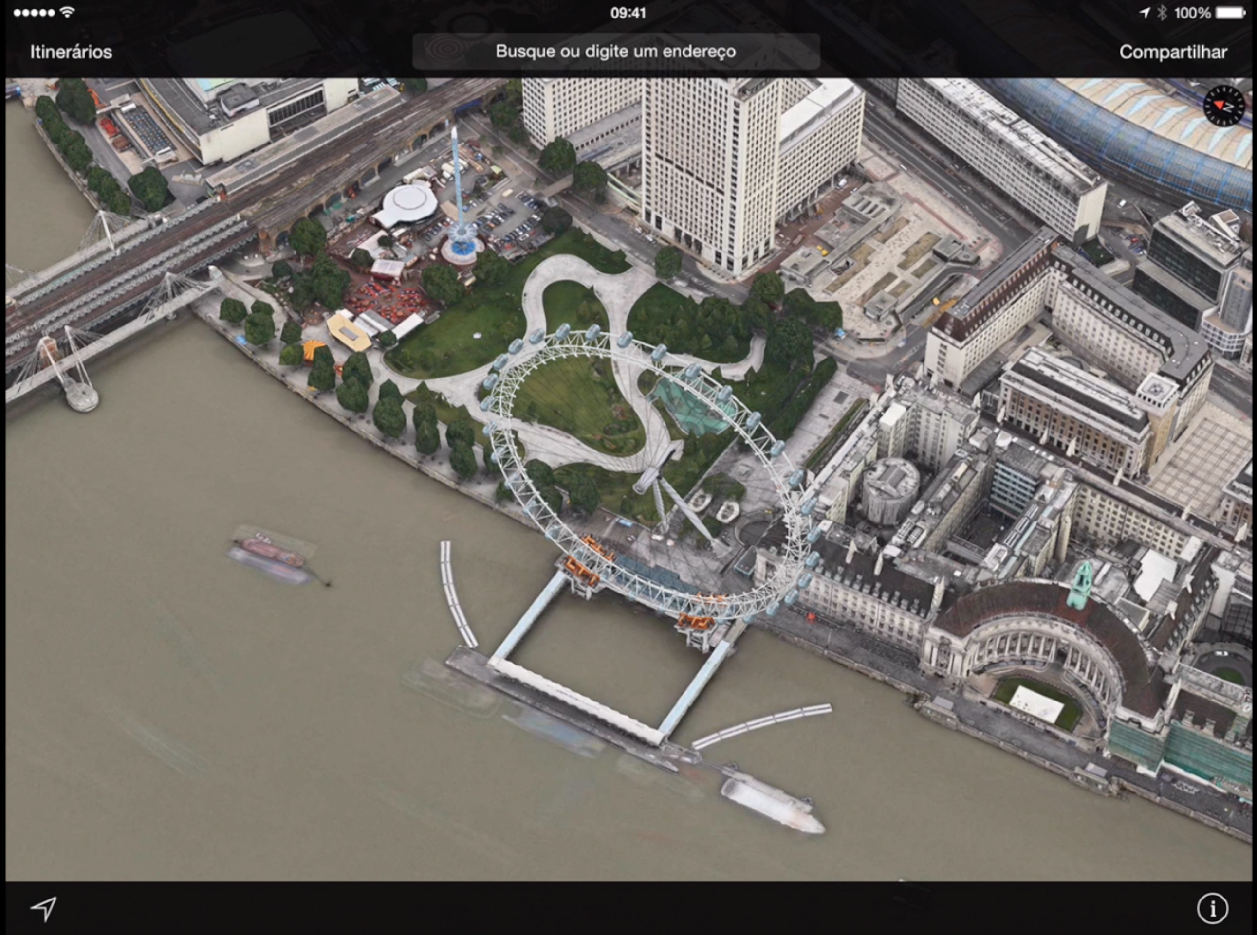 London Eye com animação 3D