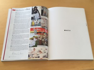 Propaganda do Apple Watch na revista Vogue