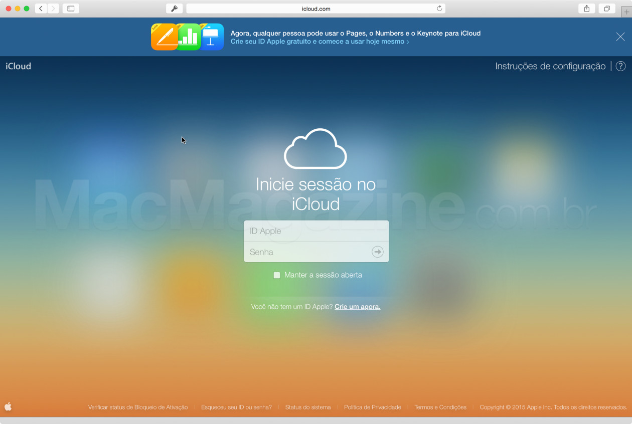 iWork no iCloud.com