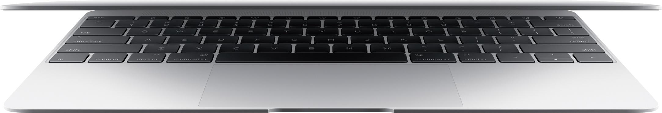 MacBook de frente com a tampa abrindo