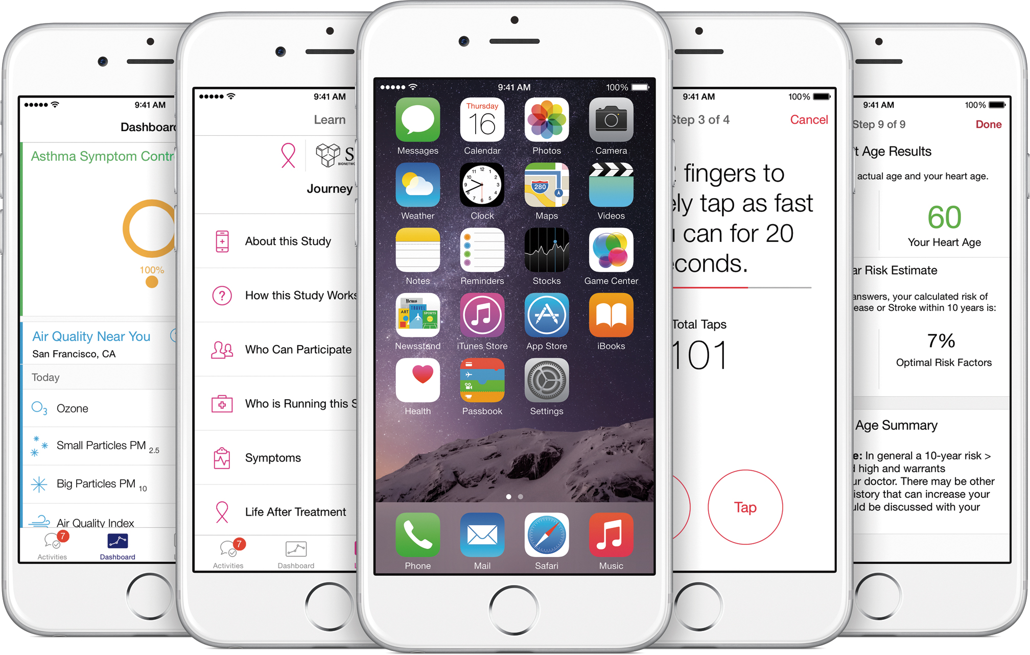 ResearchKit em iPhones 6
