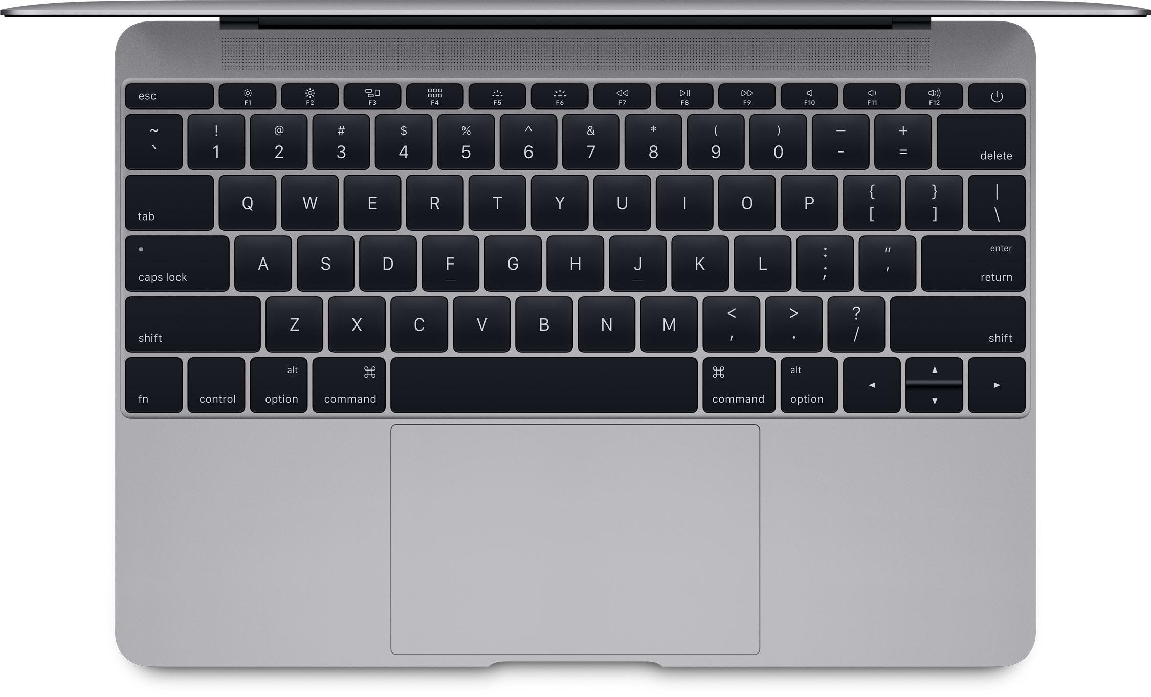 Teclado do novo MacBook