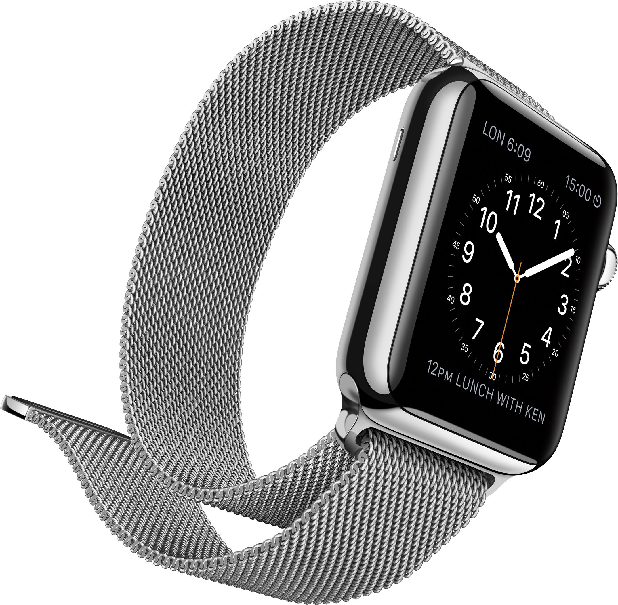 Apple Watch prata com a Milanese Loop