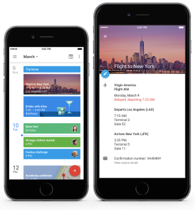 Google Calendar em iPhones
