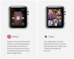 Música e Fotos no Apple Watch