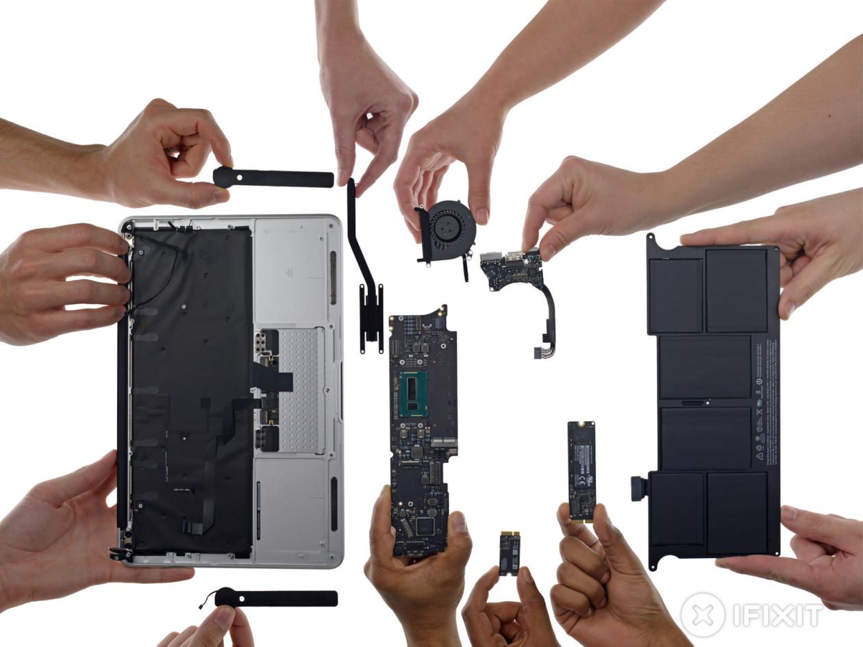Novos MacBooks Air desmontados