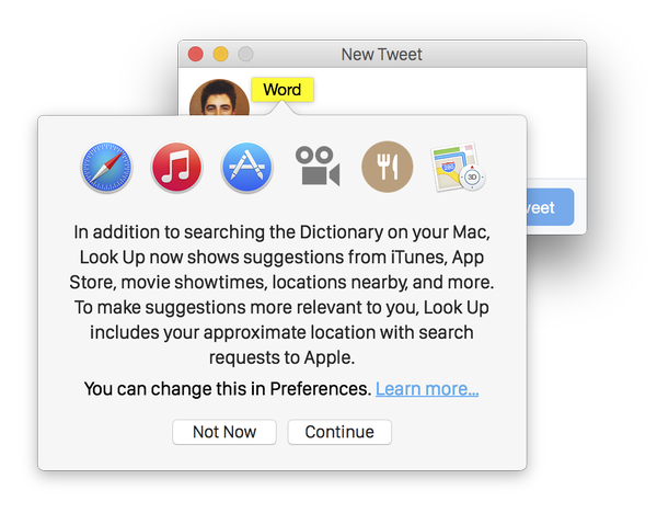 Look Up do OS X 10.10.3