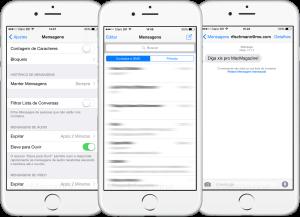 Mensagens no iOS 8.3