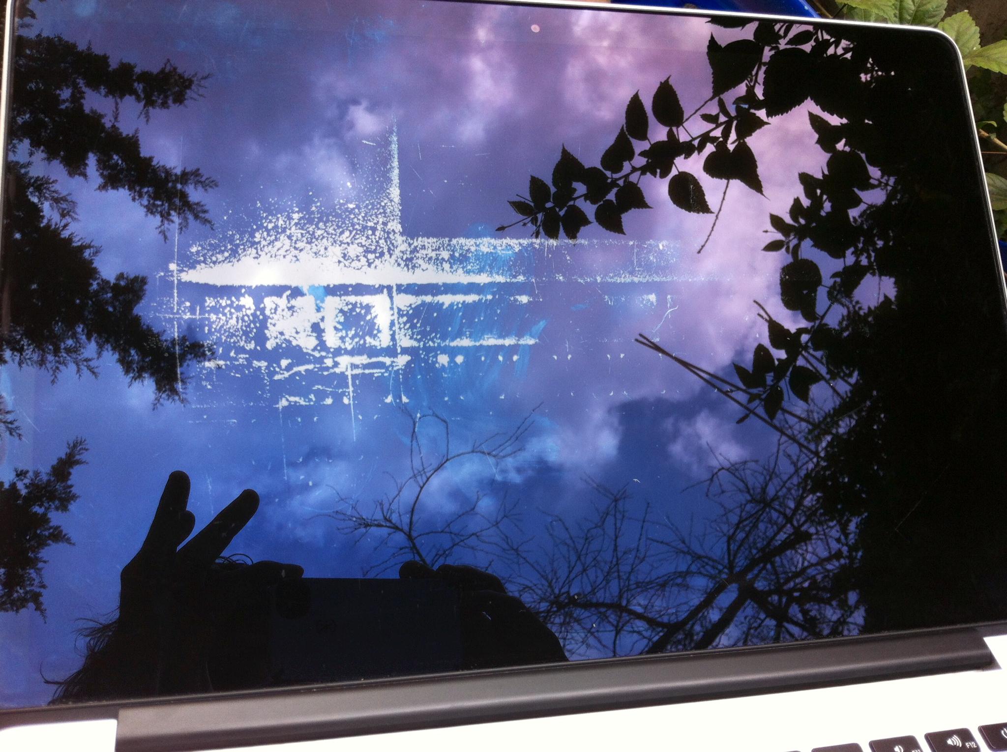 Tela do MacBook Pro Retina com problema