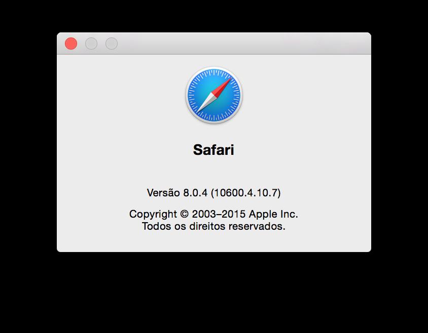Safari 8.0.4