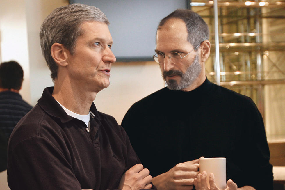 Steve Jobs e Tim Cook