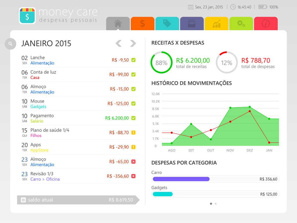 Money Care para iPad