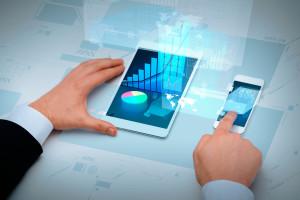 Estatísticas vistas num iPad e num iPhone