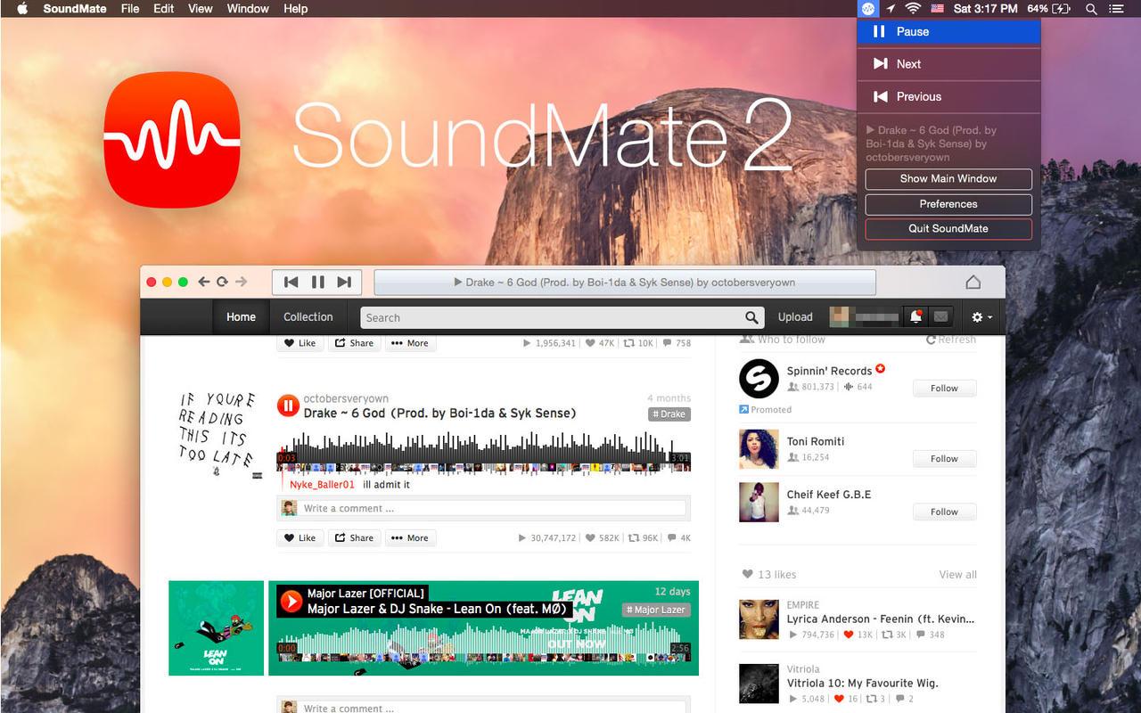 Screenshot do SoundMate