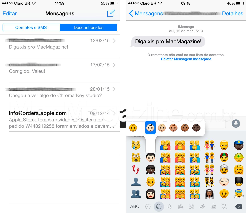 Screenshots do iOS 8.3 beta 4