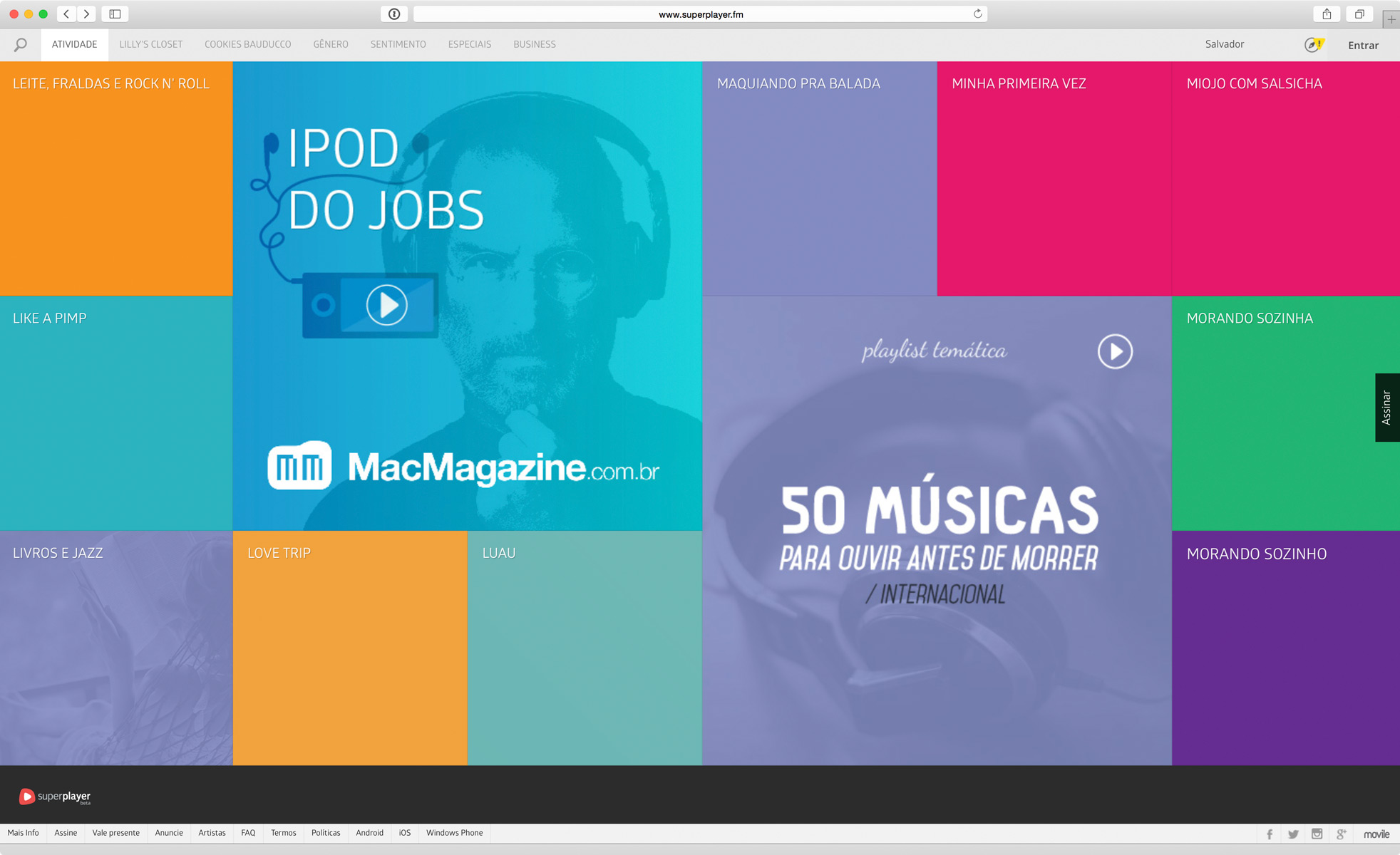 iPod do Jobs - playlist no Superplayer