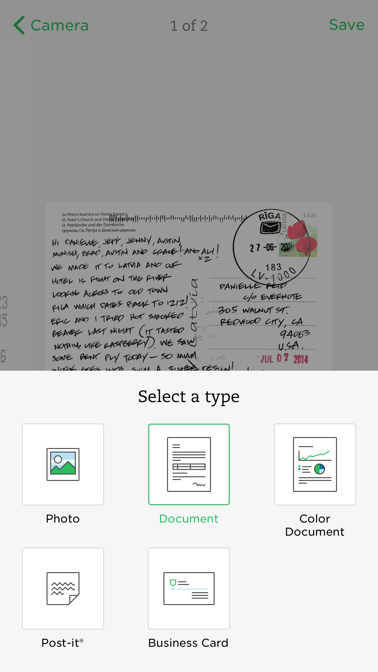 Update do Evernote