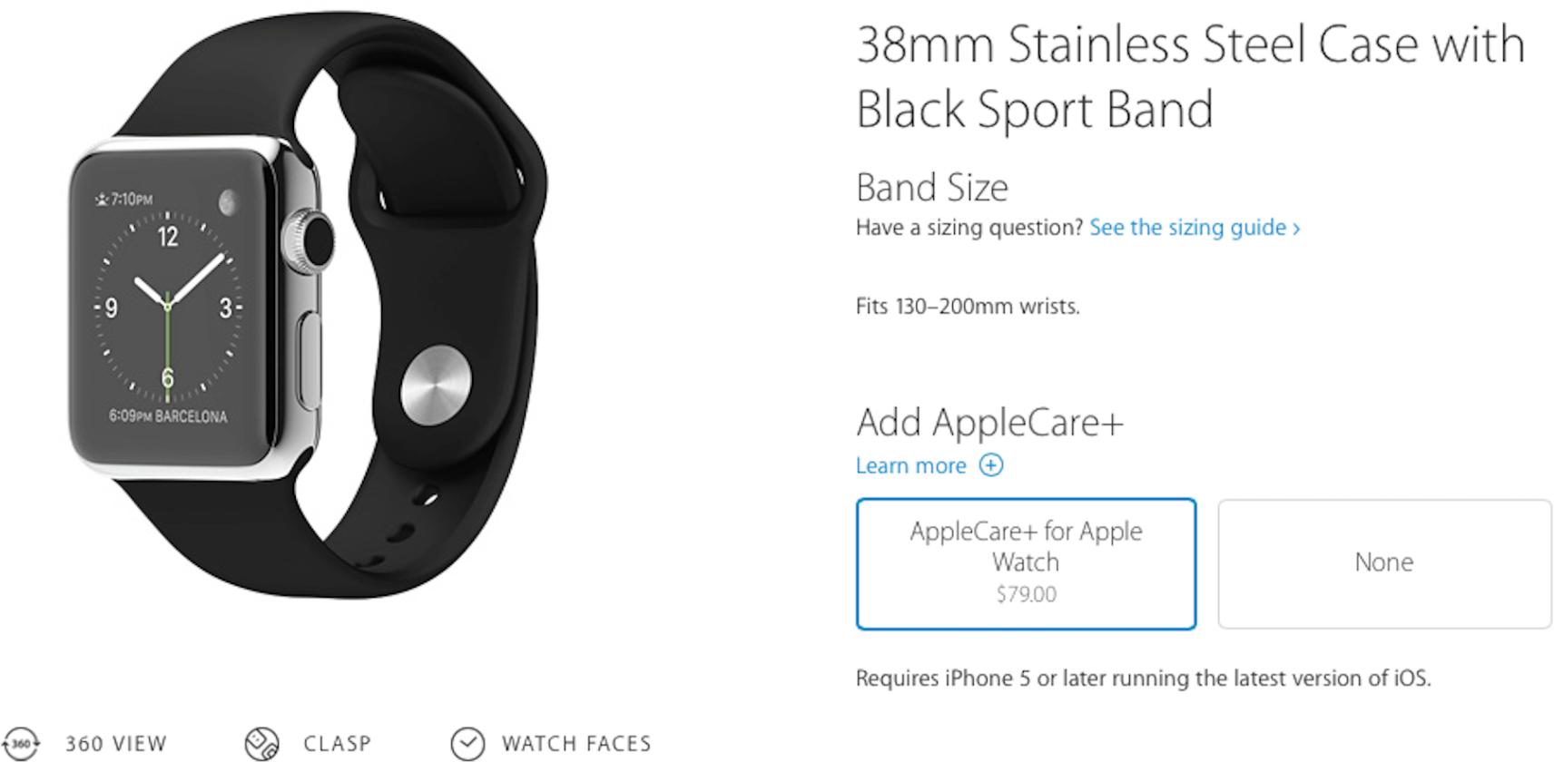 AppleCare+ para o Apple Watch