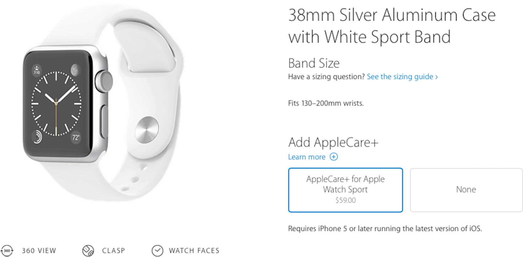 AppleCare+ para o Apple Watch