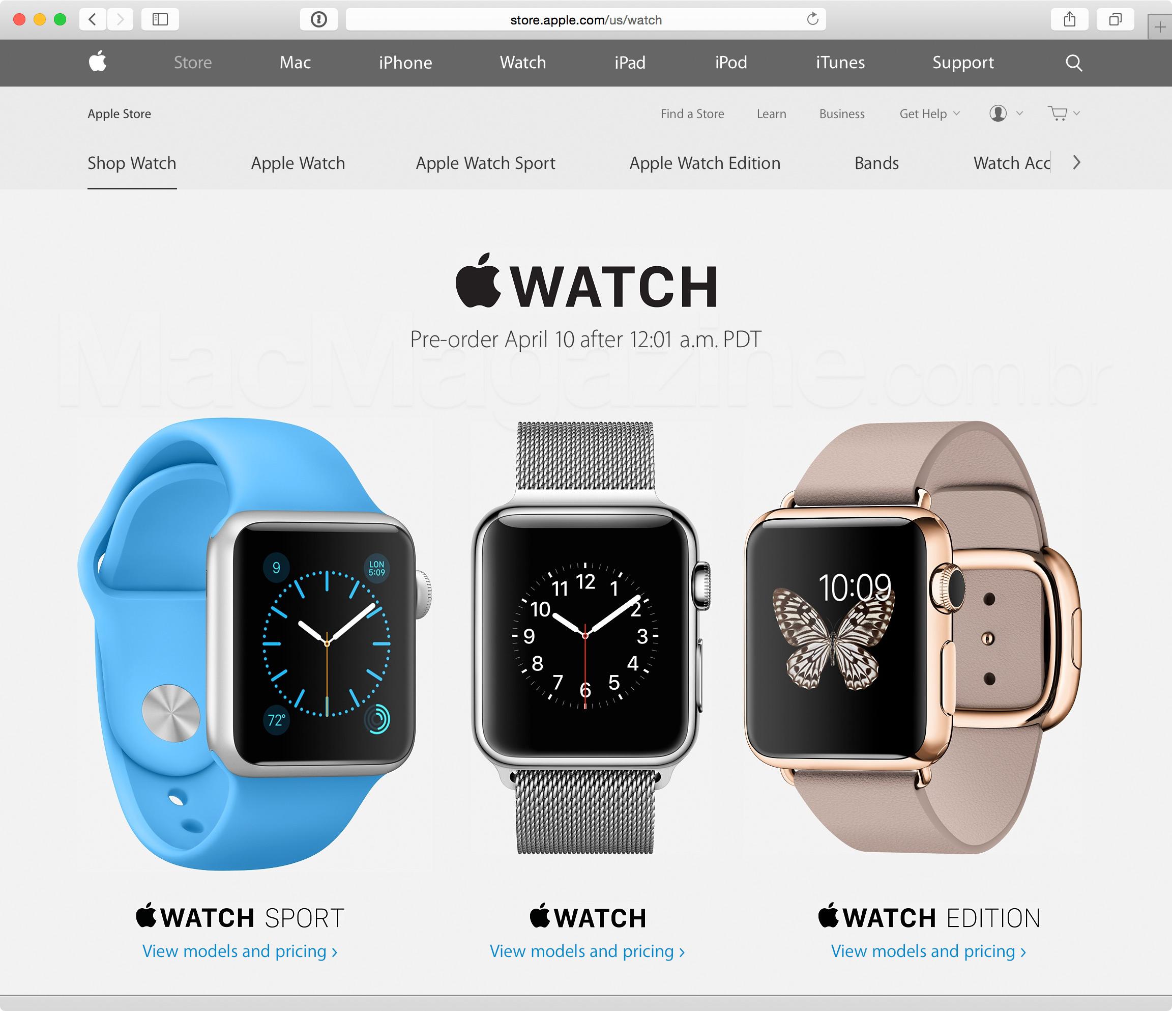 Pré-venda do Apple Watch