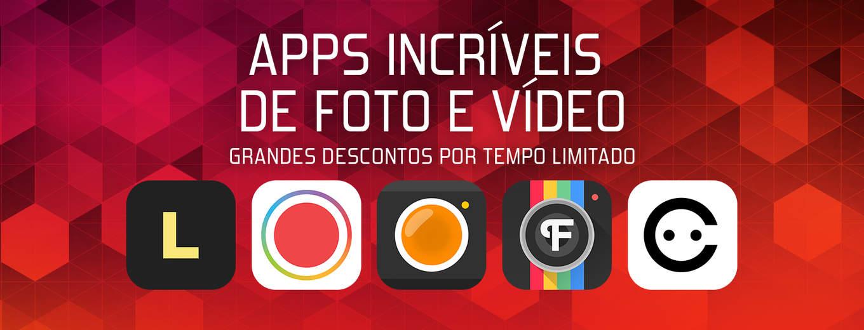Apps de foto e vídeo com desconto