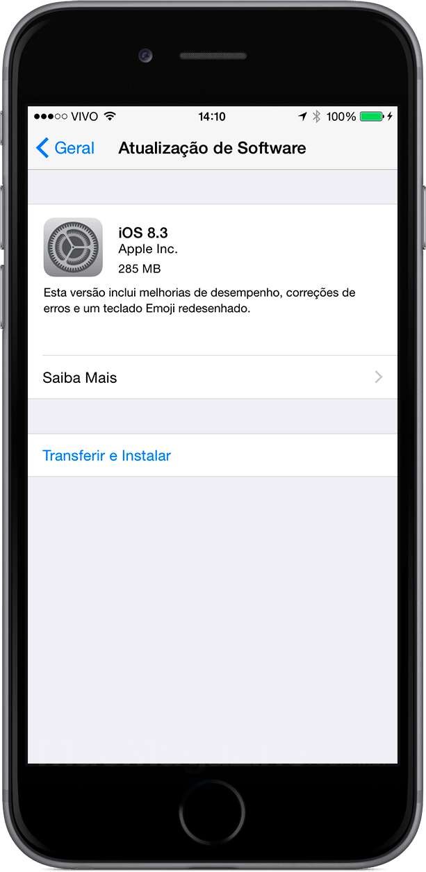 iOS 8.3 no iPhone