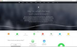 Nova página sobre a Siri