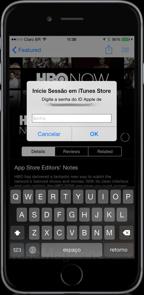 Bug no Touch ID - iOS 8.3