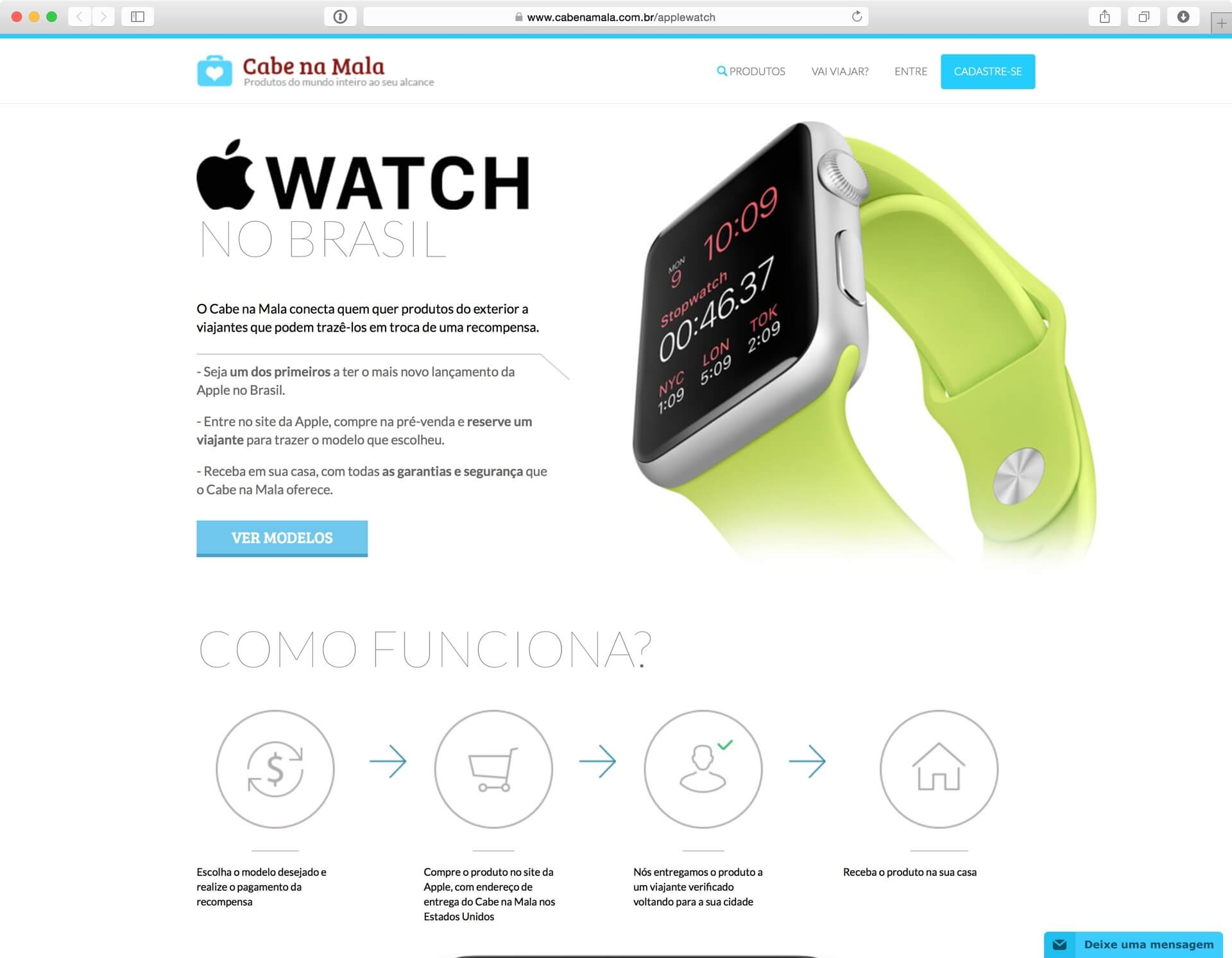 Cabe na Mala - Apple Watch
