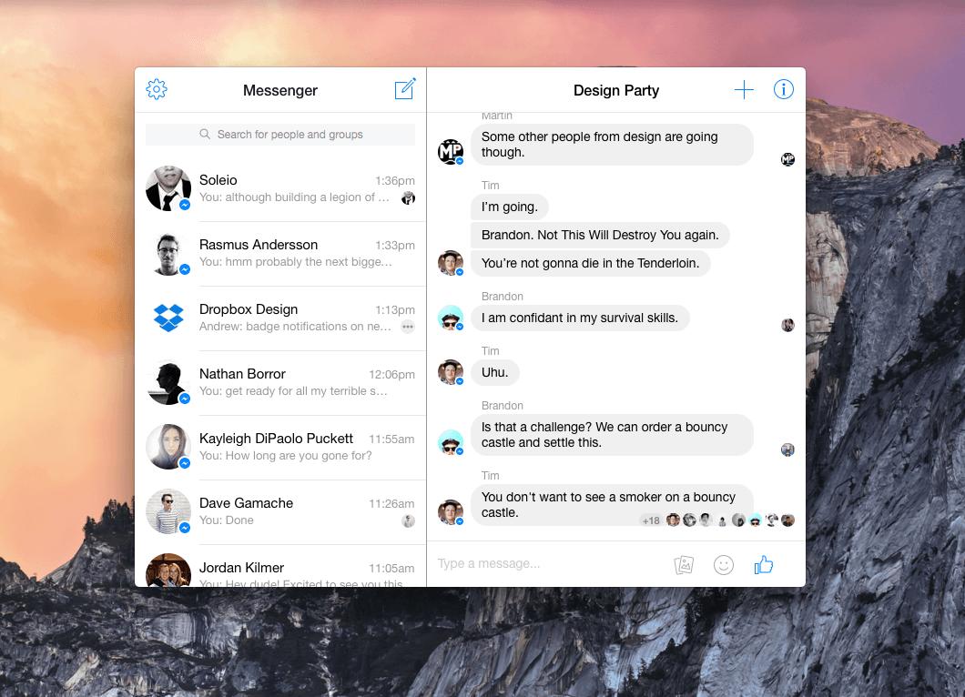 Messenger para OS X