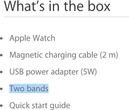 O que há na caixa do Apple Watch Sport