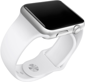 Apple Watch Sport com pulseira branca