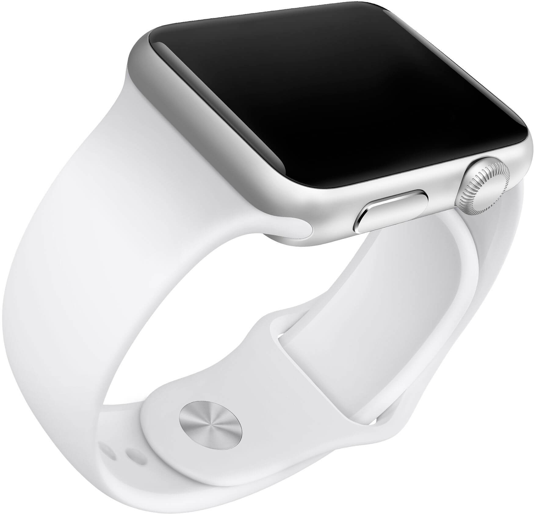 Apple Watch Sport com pulseira branca