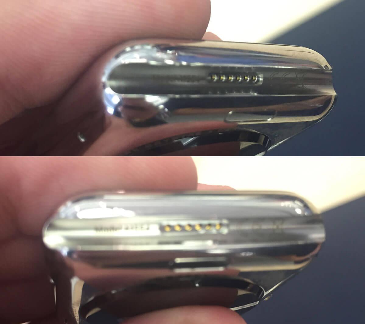 Porta de diagnóstico do Apple Watch