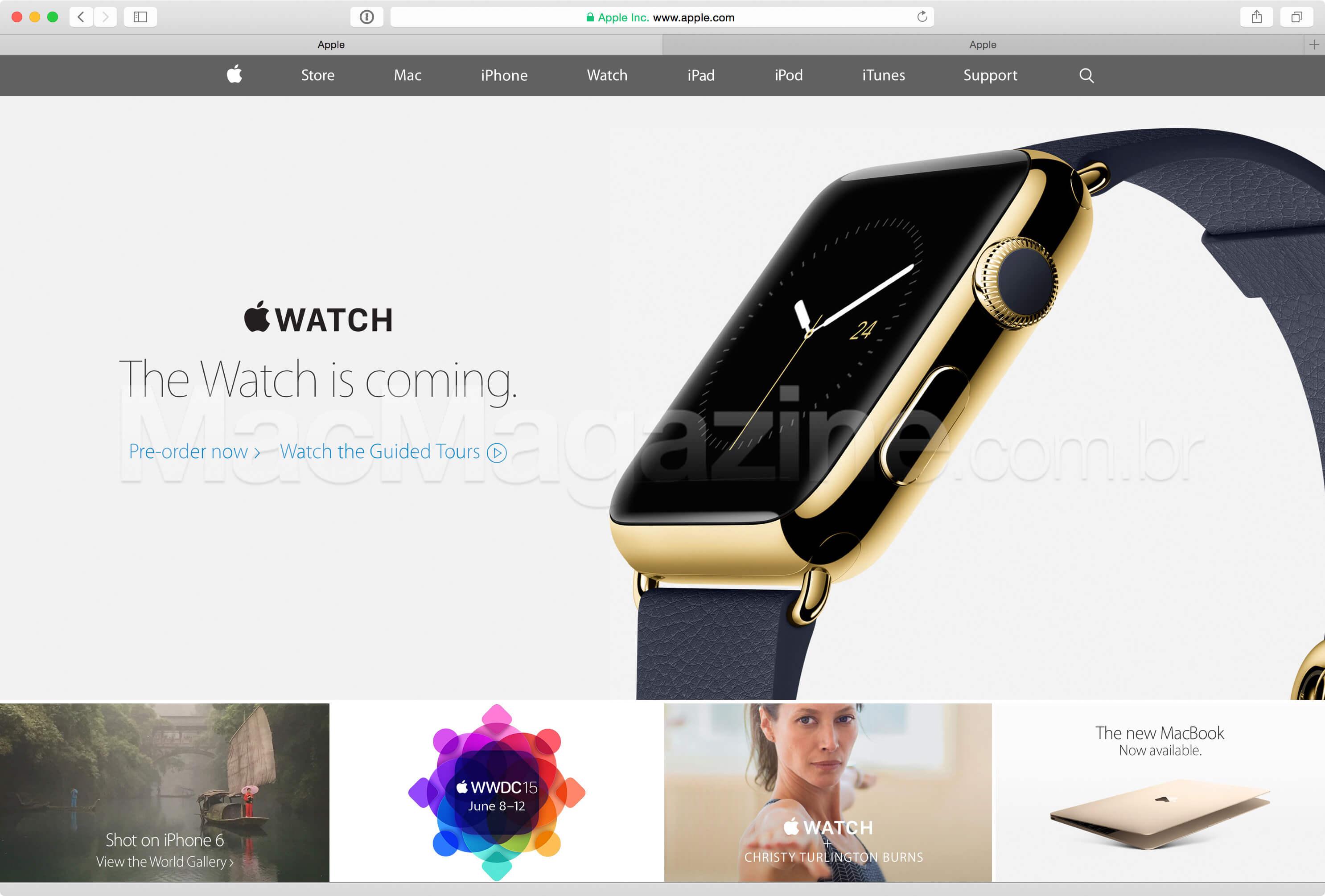 Apple.com agora