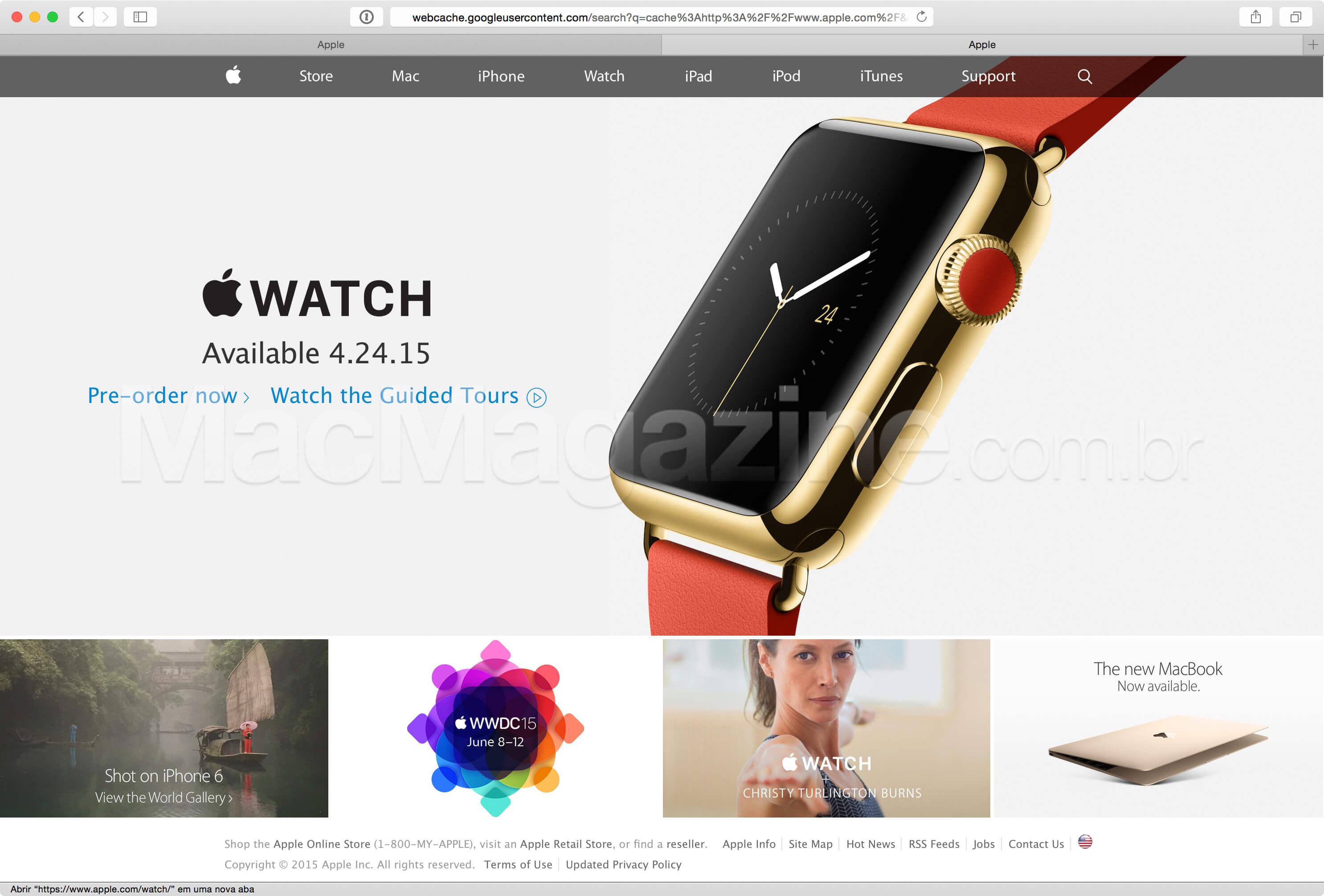 Apple.com antes