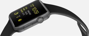 Apple Watch Sport com pulseira preta