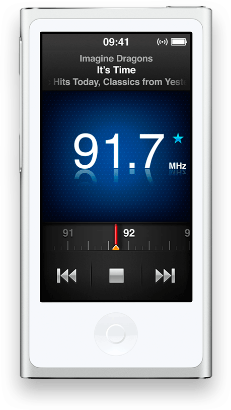 Rádio FM no iPod nano